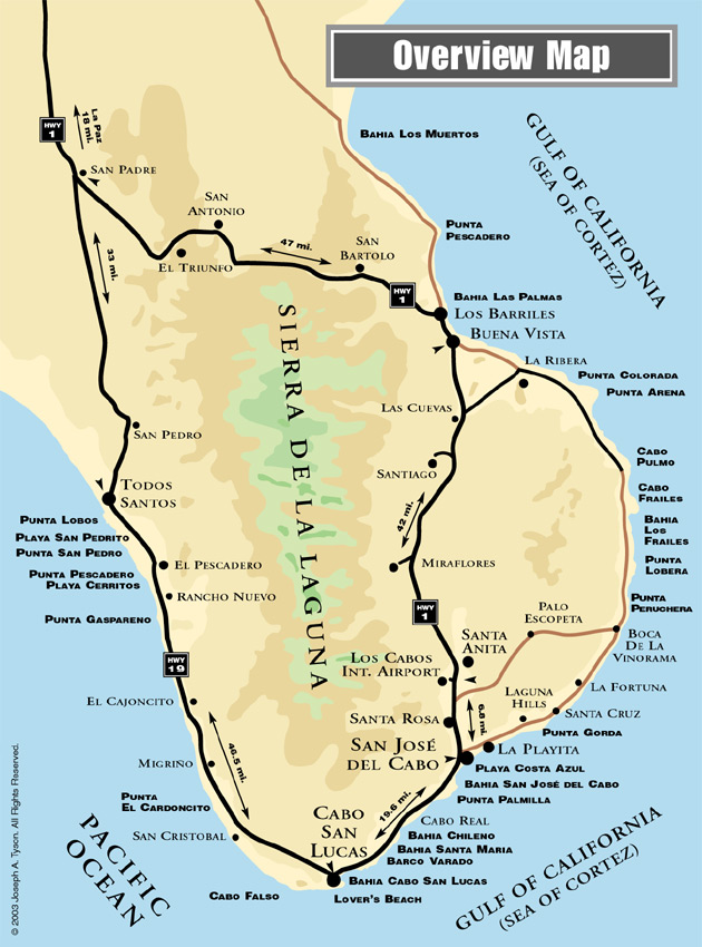 on cabo mexico map